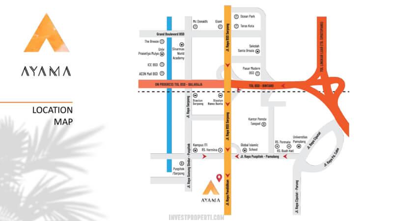 Lokasi Cluster Ayama Tangerang