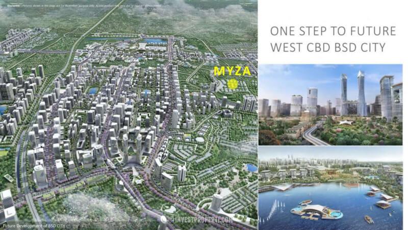 Lokasi Myza BSD - Next to West BSD CBD