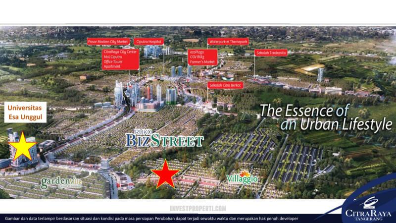 Lokasi Ruko BizStreet Citra Raya