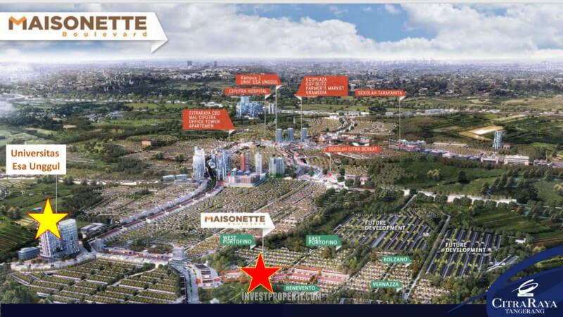 Lokasi Ruko Maisonette Boulevard Citra Raya