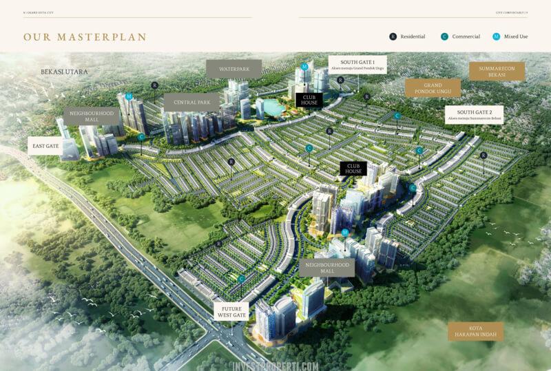 Master Plan Grand Duta City bekasi