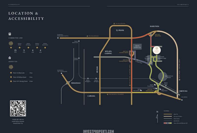 Peta Lokasi Grand Duta City Bekasi