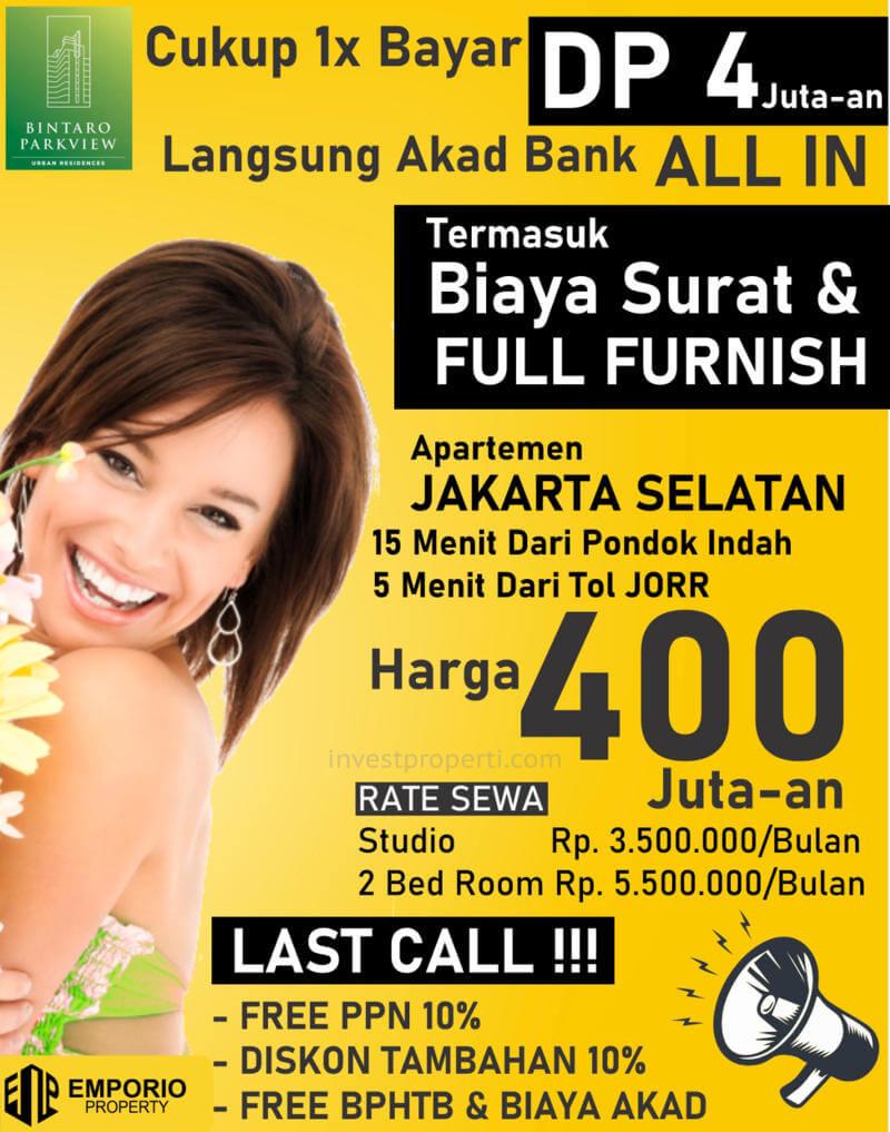 Promo Apartemen Bintaro ParkView Jakarta