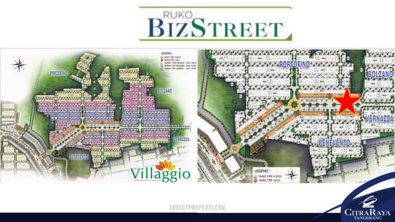 Ruko BizStreet Citra Raya Siteplan