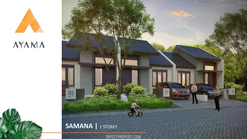 Rumah Ayama Bhumi Amala Tangerang Tipe SamaneaDenah Rumah Ayama Bhumi Amala Tangerang Tipe Samana