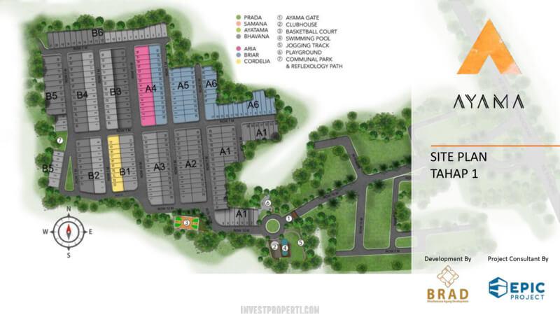 Siteplan Cluster Ayama Tangerang Tahap 1