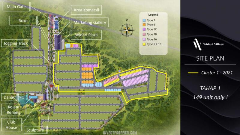 Siteplan Widari Village Cluster 1