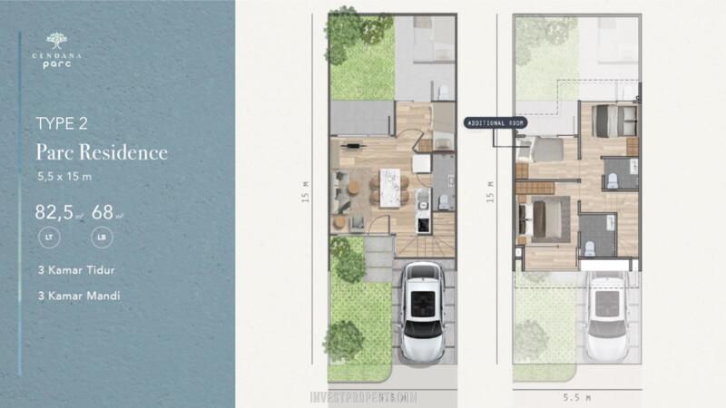 Denah Rumah Cendana Parc Tipe Parc Residence - Add Room