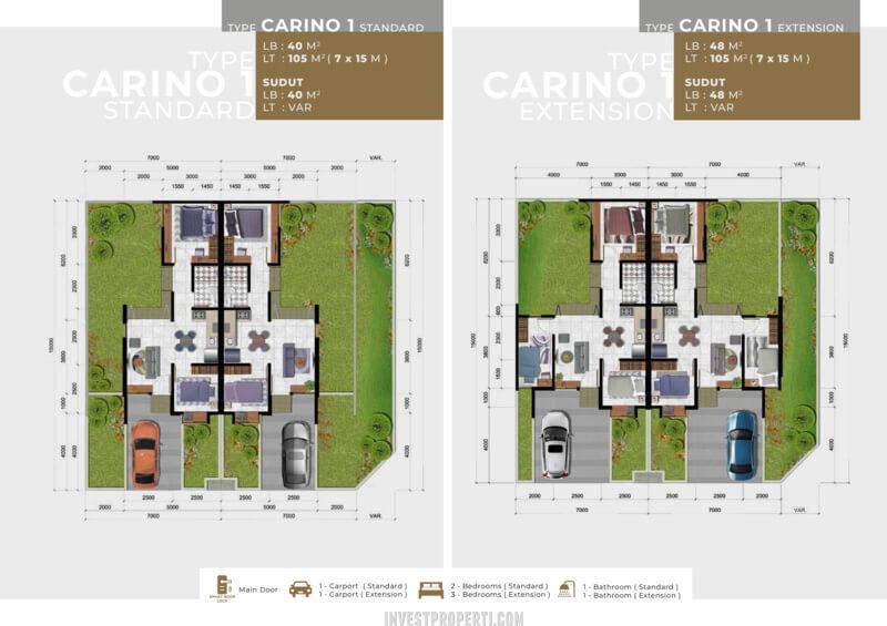 Denah Rumah Girona Citra Raya Tipe Carino L7