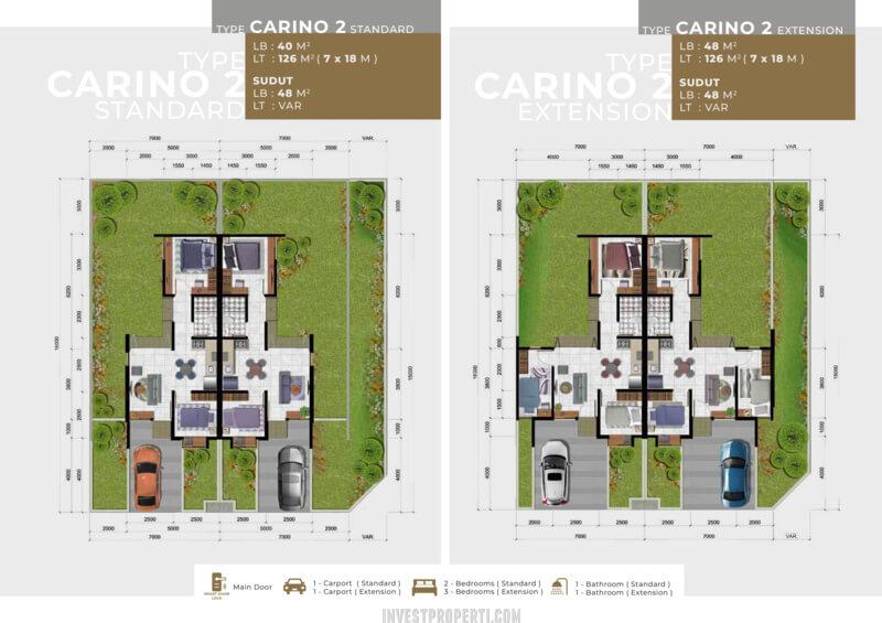 Denah Rumah Girona Citra Raya Tipe Carino L7 -2