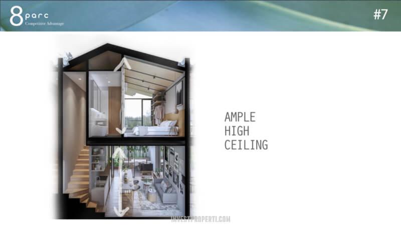 Desain Rumah Cendana Parc - Ample High Ceiling