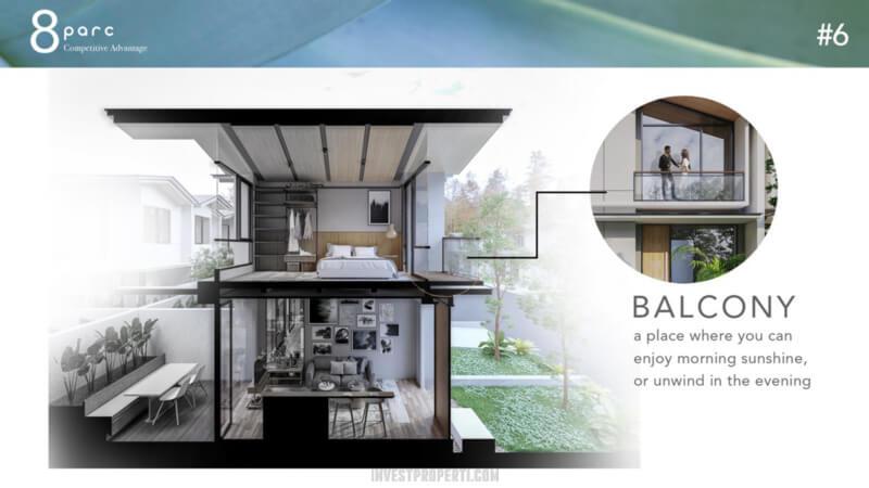 Desain Rumah Cendana Parc - Balcony