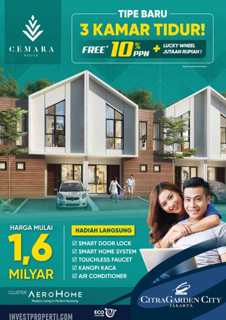 Harga Rumah Cemara House Ext CitraGarden City Jakarta