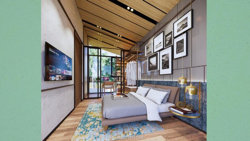 Interior Rumah Cendana Parc Lippo Karawaci Tipe Parc Villa Lantai Atas Kamar Tidur