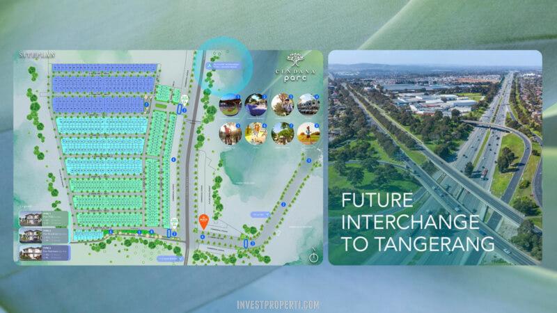 Lokasi Interchange Ke Tangerang Dari Cendana Parc