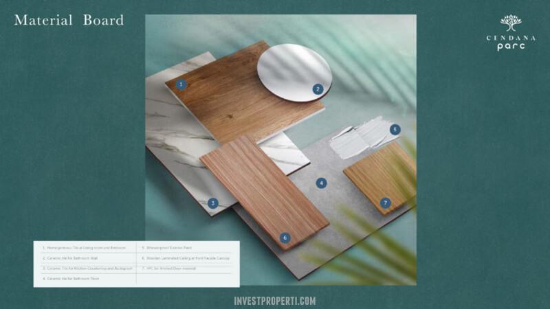 Material Board Rumah Cendana Parc