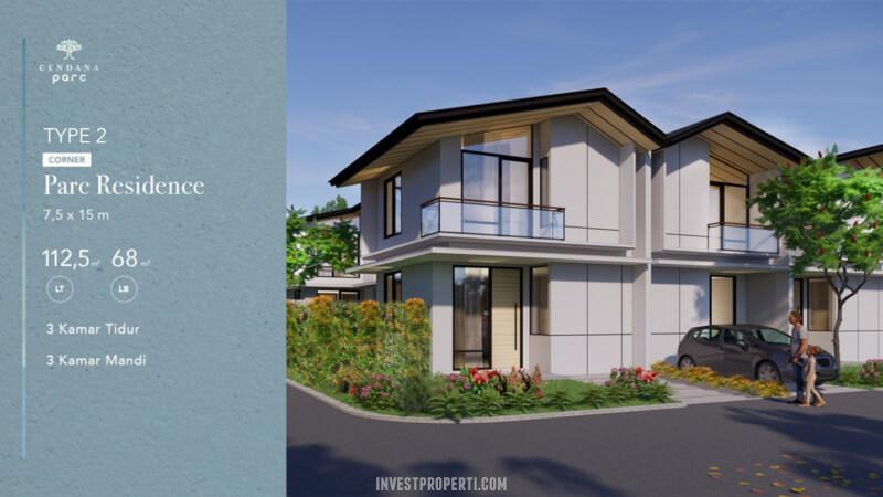 Rumah Cendana Parc Tipe Parc Residence Sudut