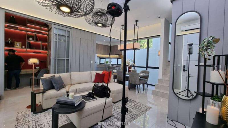 Show Unit Rumah Aether BSD - Living Room
