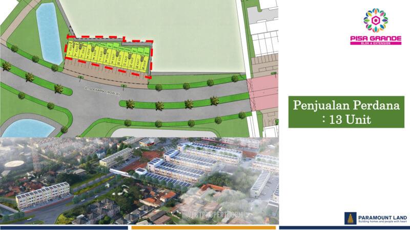 Siteplan Ruko Pisa Grande Paramount Land