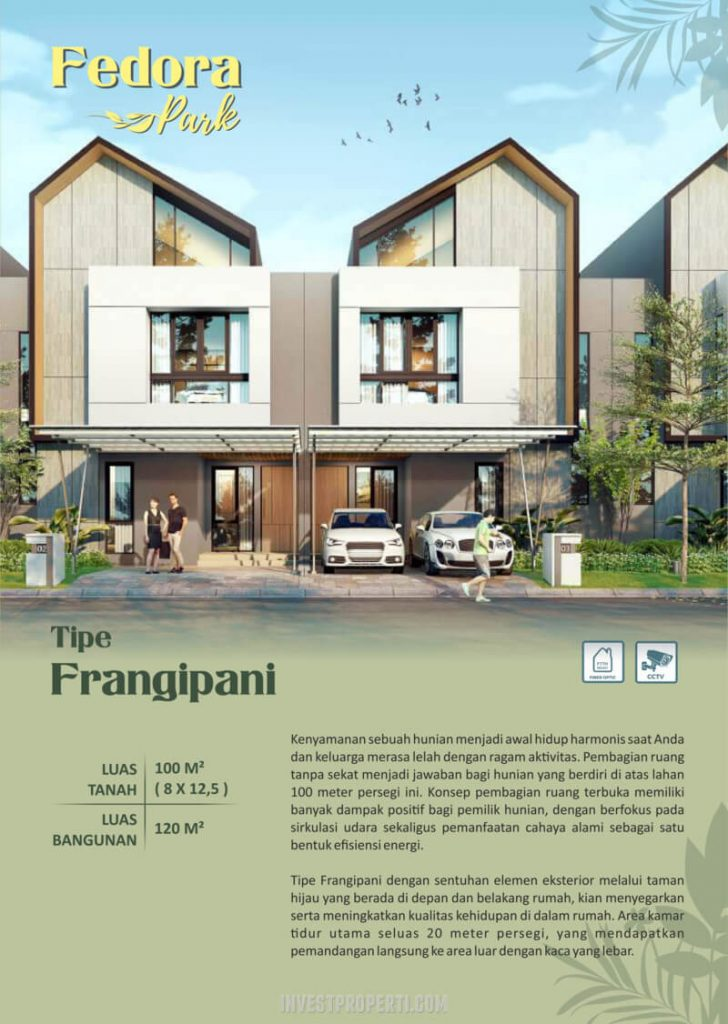 Rumah Fedora Park Suvarna tipe Frangipani