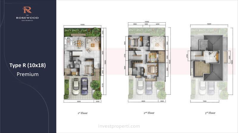 Denah Rumah Rosewood Sumbog Tipe 10x18