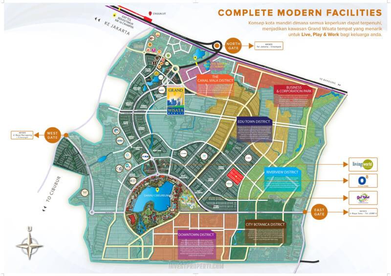 Lokasi Cluster o8 Grand Wisata Bekasi