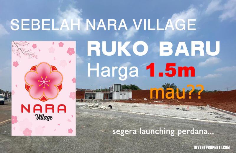 Ruko Baru Paramount Sebelah Nara Village