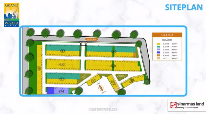 Siteplan Cluster O8 Grand Wisata Bekasi