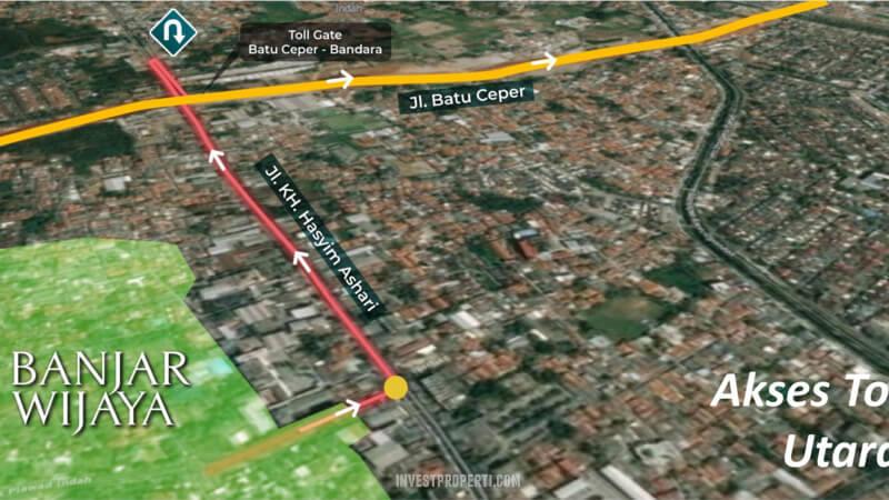 Akses Jalan ke Banjar Wijaya