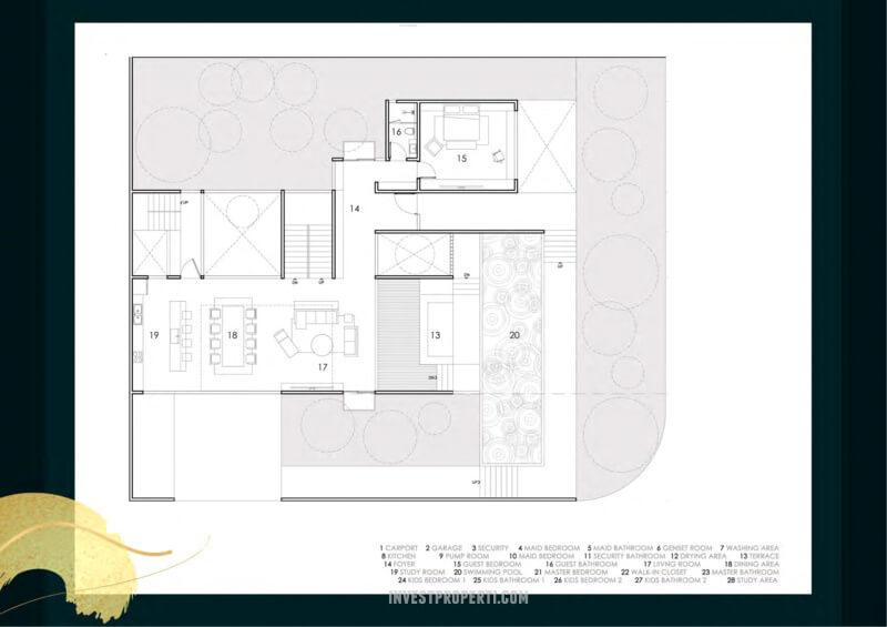 Denah Kavling Villa Pasir Putih 3 PIK2 - 10x25m