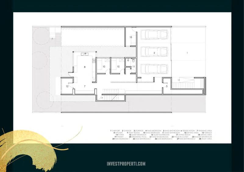 Denah Kavling Villa Pasir Putih 3 PIK2 - 12x30 m