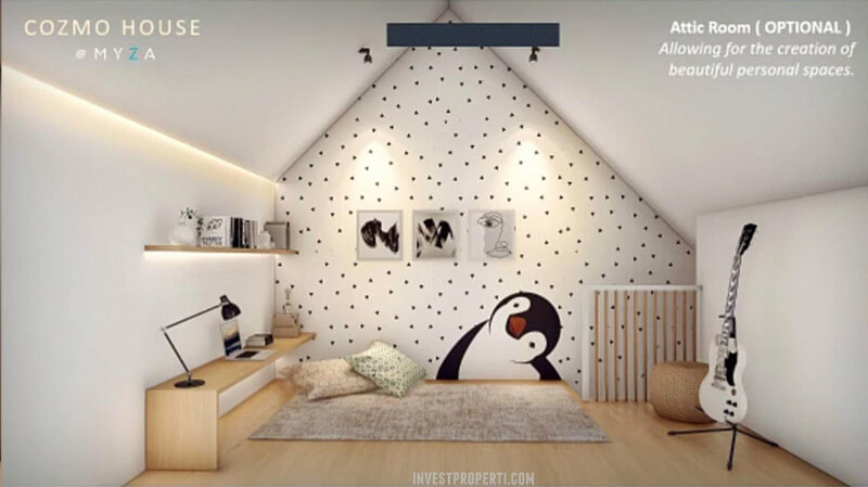 Ruang Attic Rumah CozmoHouse Myza BSD