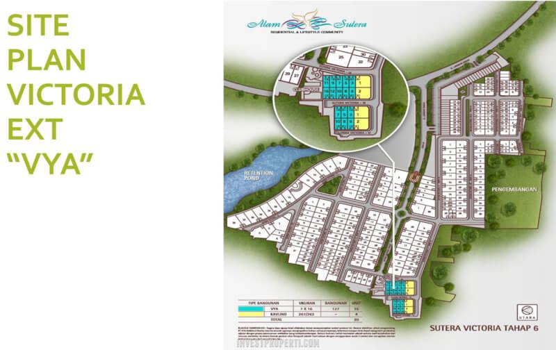 Siteplan Rumah VYA Sutera Victoria Alam Sutera