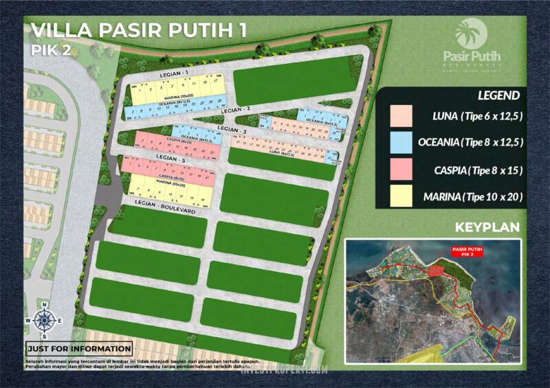 Siteplan Villa Pasir Putih 1 PIK 2