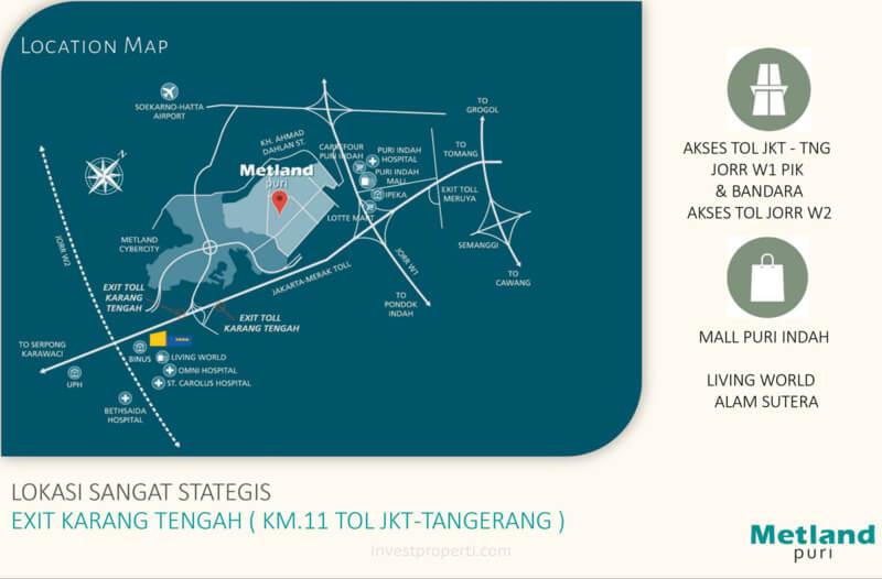 Akses Jalan Metland Puri Tangerang