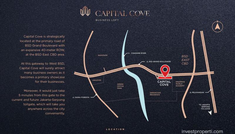 Lokasi Capital Cove Business Loft