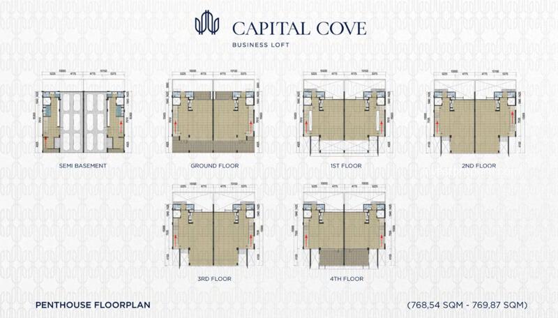 Capital Cove Business Loft BSD - Penthouse Floor Plan