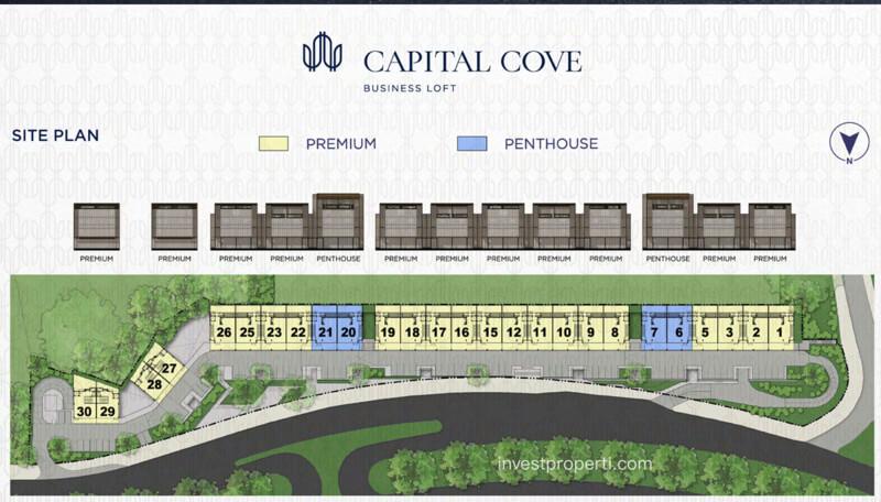 Capital Cove Business Loft BSD - Siteplan