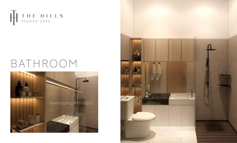 Interior Desain Bathroom The Hills Pondok Cabe Tangerang Tipe 32