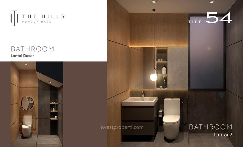 Interior Desain Bathroom The Hills Pondok Cabe Tangerang Tipe 54