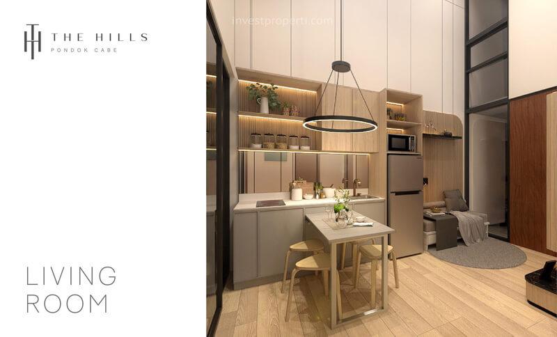 Interior Desain Dapur Rumah The Hills Pondok Cabe Tangerang Tipe 32