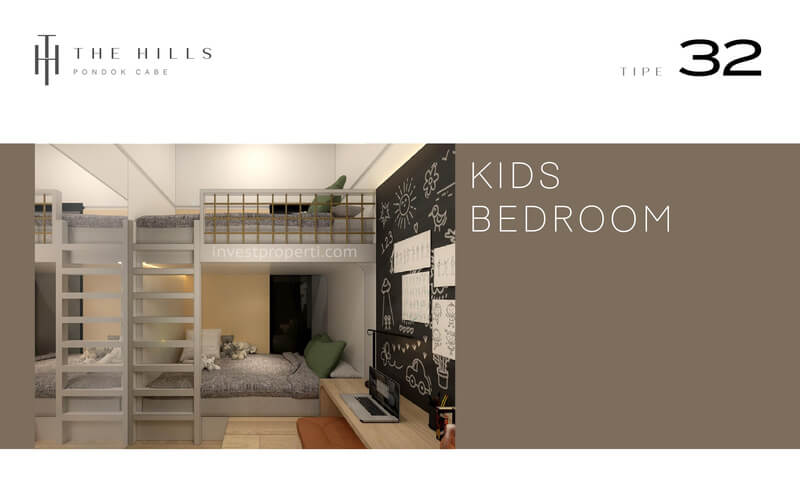 Interior Desain Kids Bedroom The Hills Pondok Cabe Tangerang Tipe 32