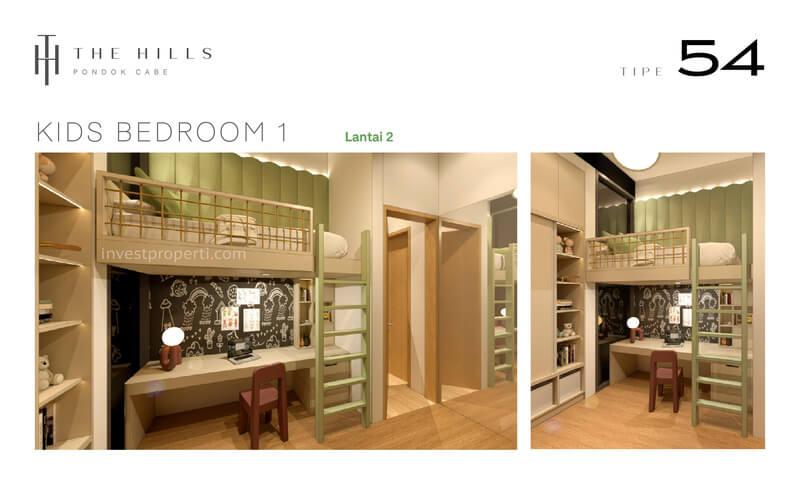 Interior Desain Kids Bedroom The Hills Pondok Cabe Tangerang Tipe 54