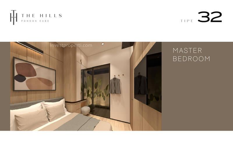 Interior Desain Master Bedroom The Hills Pondok Cabe Tangerang Tipe 32