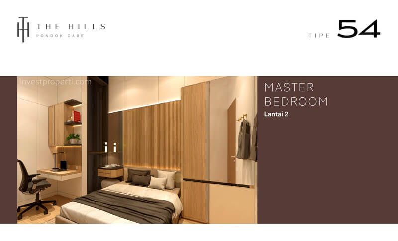 Interior Desain Master Bedroom The Hills Pondok Cabe Tangerang Tipe 54
