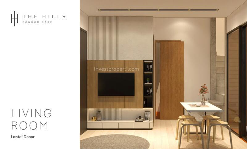 Interior Desain Ruang Tamu The Hills Pondok Cabe Tangerang Tipe 54