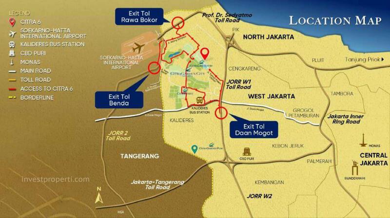Peta Lokasi Citra FineHomes Jakarta