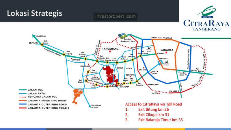 Petea Lokasi Citra Raya Tangerang
