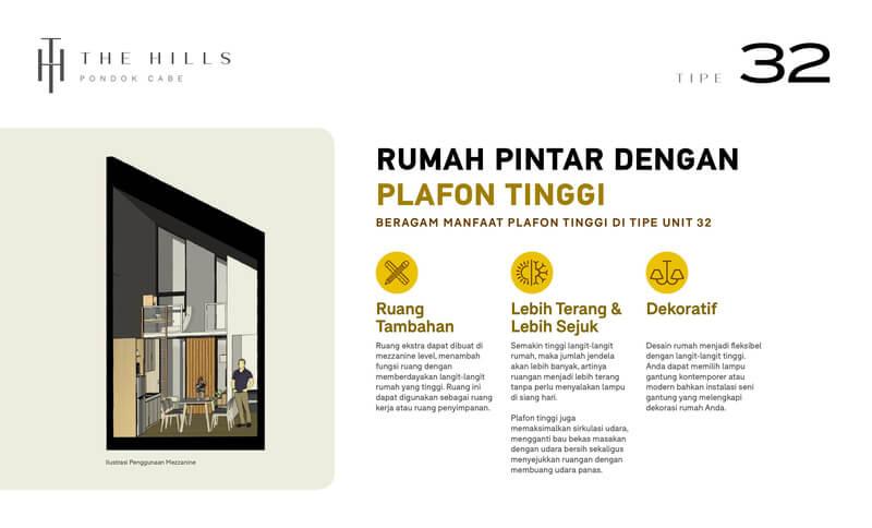 Plafon Rumah The Hills Pondok Cabe Tangerang Rumah Tipe 32