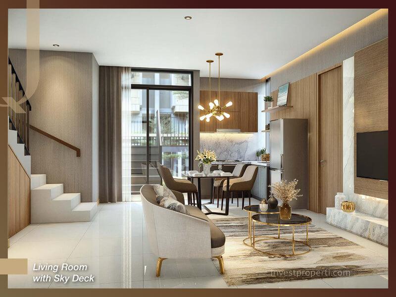 Rumah Quantis BSD Tipe 8 - living Room